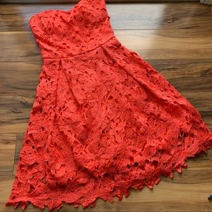 Lulu's embroidered lace halter dress XS
